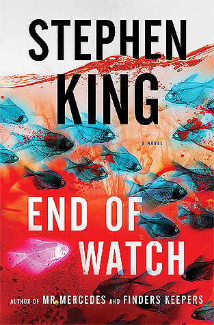 "End of Watch by Stephen King - For nearly six years, in Room 217 of the Lakes Region Traumatic Brain Injury Clinic, Brady Hartsfield has been in a persistent vegetative state. A complete recovery seems unlikely for the insane perpetrator of the ""Mercedes Massacre,"" in which eight people were killed and many more maimed for life. But behind the vacant stare, Brady is very much awake and aware, having been pumped full of experimental drugs...scheming, biding his time as he trains himself to take full advantage of the deadly new powers that allow him to wreak unimaginable havoc without ever leaving his hospital room. Brady Hartsfield is about to embark on a new reign of terror against thousands of innocents, hell-bent on taking revenge against anyone who crossed his path—with retired police detective Bill Hodges at the very top of that long list."