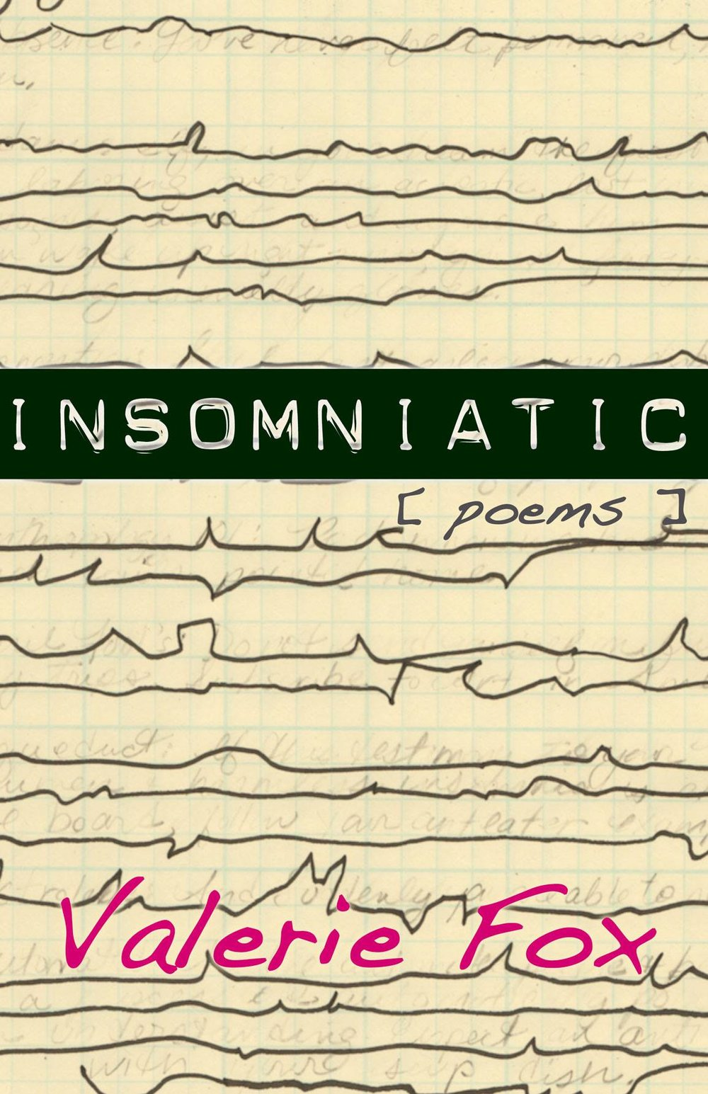 Insomniatic by Valerie Fox. Poems that ask who are we when we dream? Poetry chapbook.