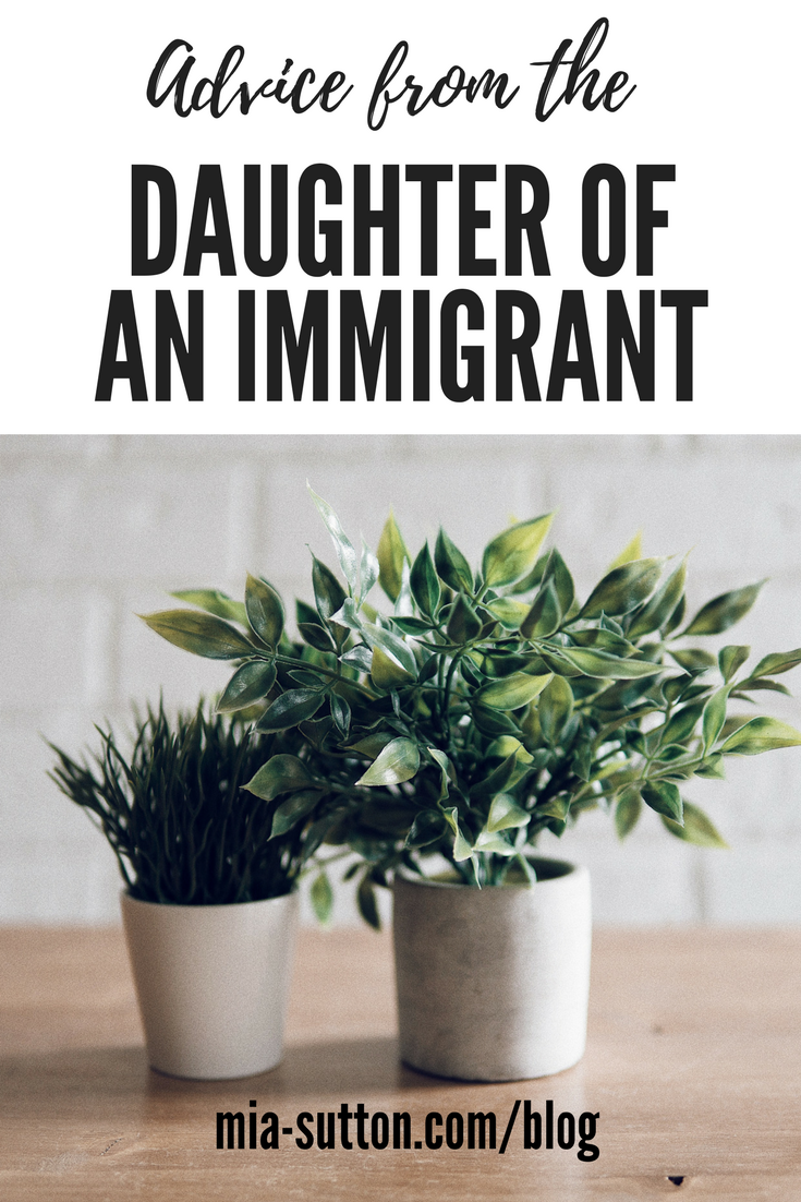 Advice from the daughter of an immigrant - have a little patience. Don't make fun of my Asian mom's accent. Read more at mia-sutton.com/blog