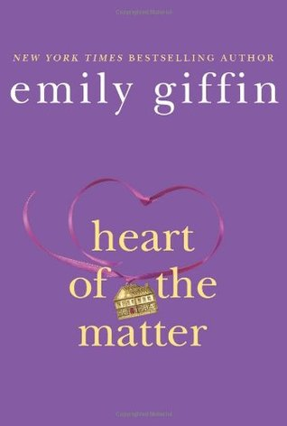 Heart of the Matter - By: Emily Giffin (Fiction)3 out of 5 starsTessa Russo is the mother of two young children and the wife of a renowned pediatric surgeon. Tessa has recently given up her career to focus on her family. From the outside, she seems destined to live a charmed life.Valerie Anderson is an attorney and single mother to six-year-old Charlie, a boy who has never known his father. After too many disappointments, she has given up on romance. Although both women live in the same Boston suburb, the two have relatively little in common aside from a fierce love for their children. But one night, a tragic accident causes their lives to converge in ways no one could have imagined.