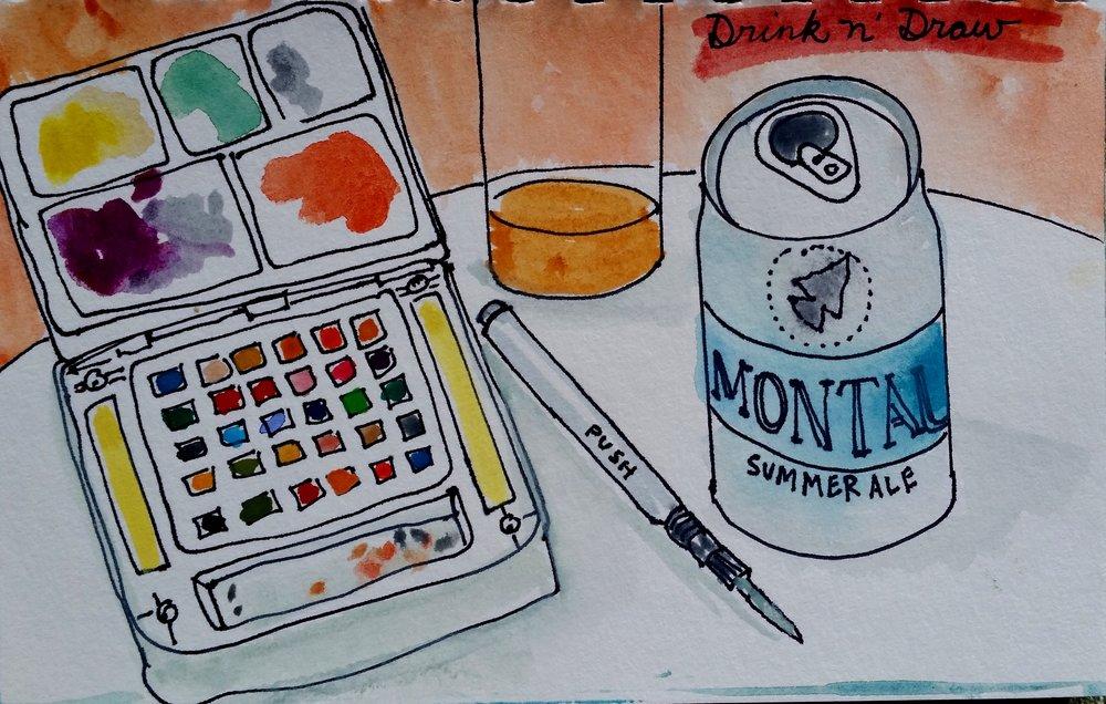 Drink N Draw.