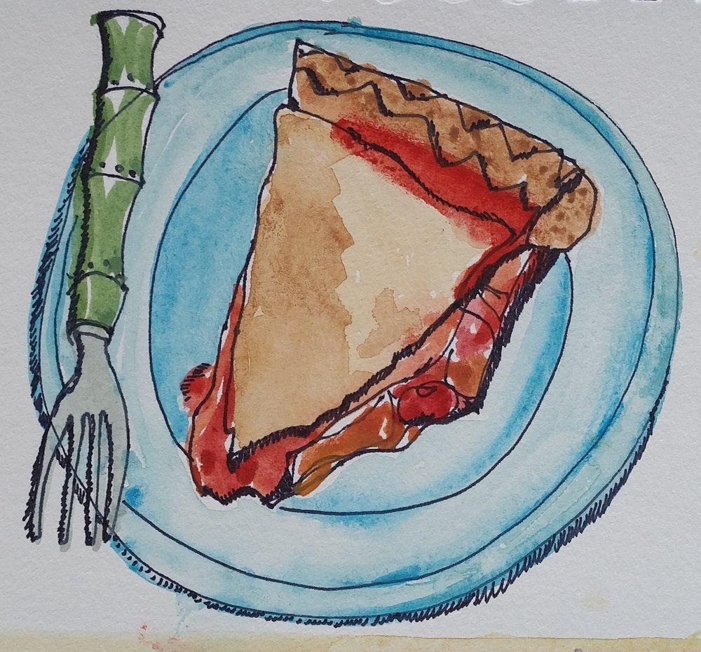 Pie Before Breakfast.
