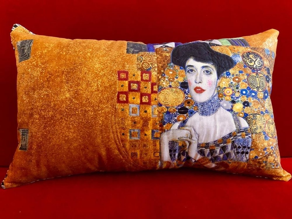 Pillow:  Beautiful Klimt Lady.