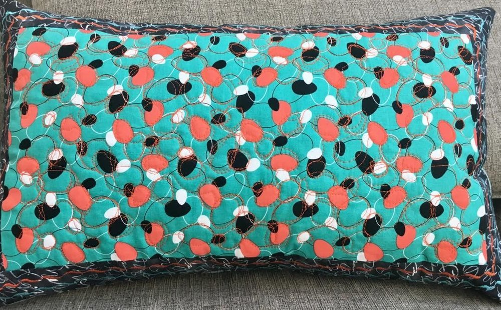 Pillow:  Guitar Picks on Turquoise.