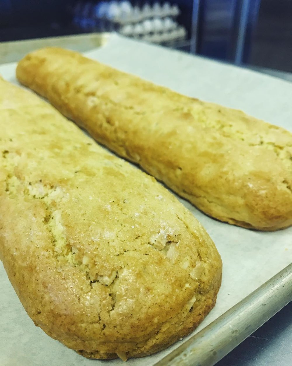Biscotti After First Bake
