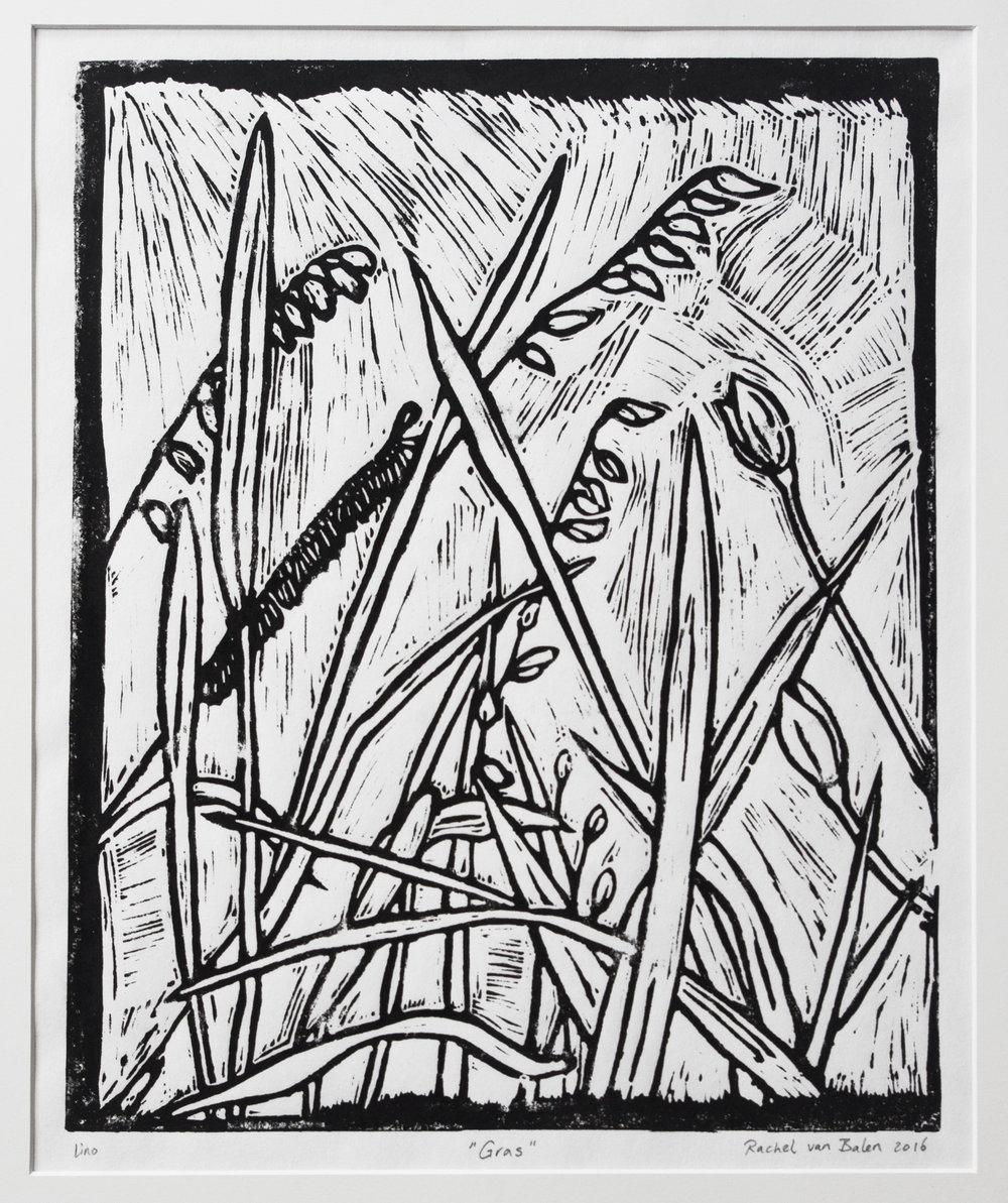 'Gras', linodruk, 2016