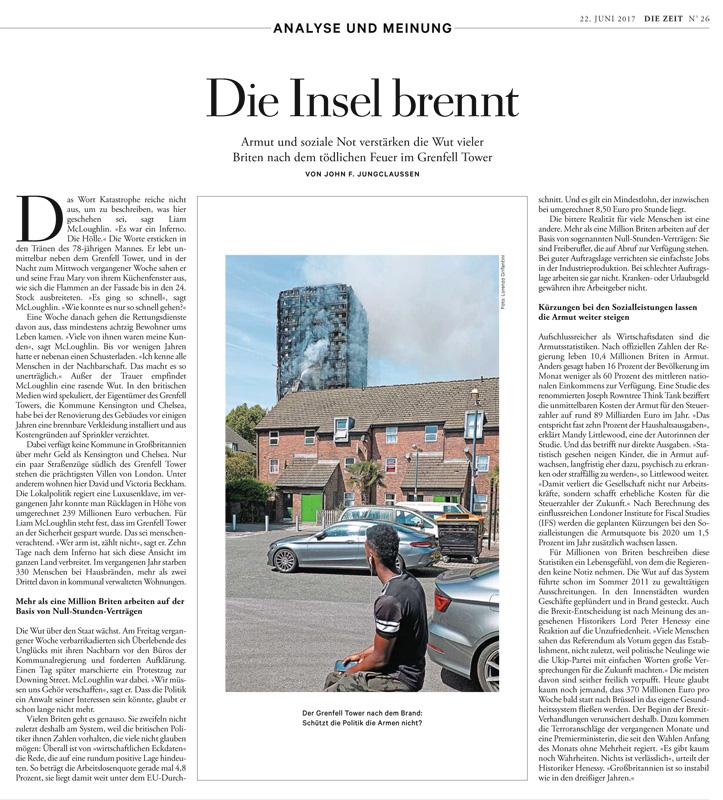 DIE ZEIT Magazine_Grenfell Tower