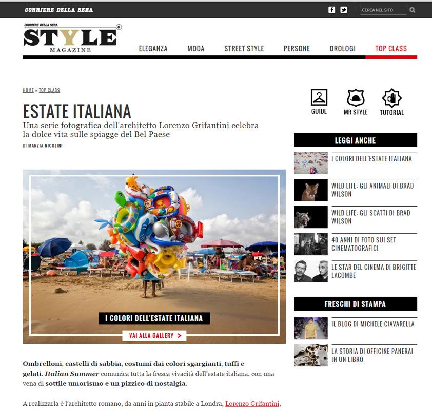 Corriere Della Sera_Italian Summer
