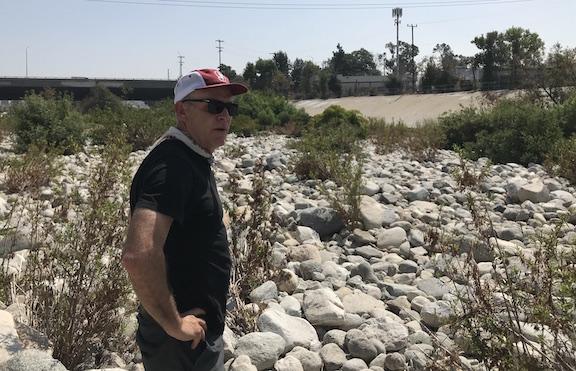 Steve Appleton with river rocks slated for removal