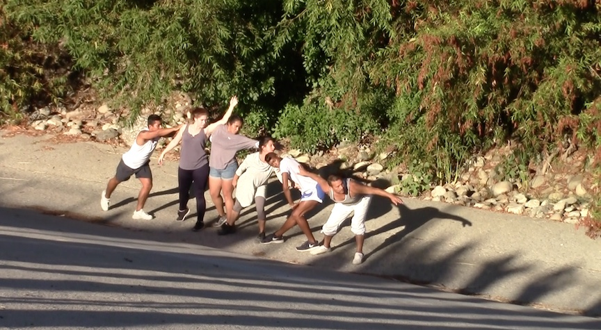 Dancing in the bed of the Los Angeles River