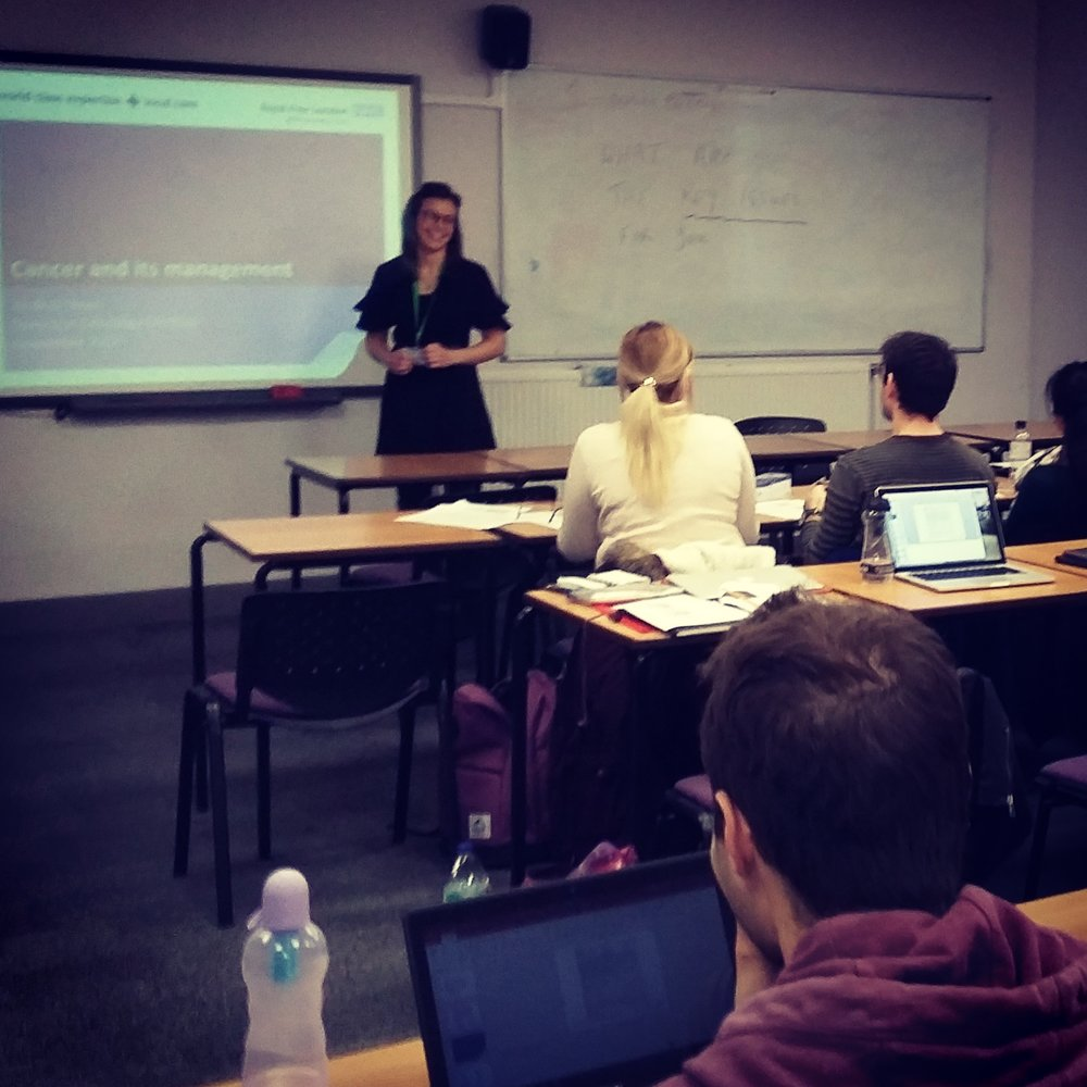 Lecturing at London Metropolitan University - Andrea has delivered a number of lectures to undergraduate and postgraduate dietetic students on cancer prevention, cancer treatment and its dietary management.