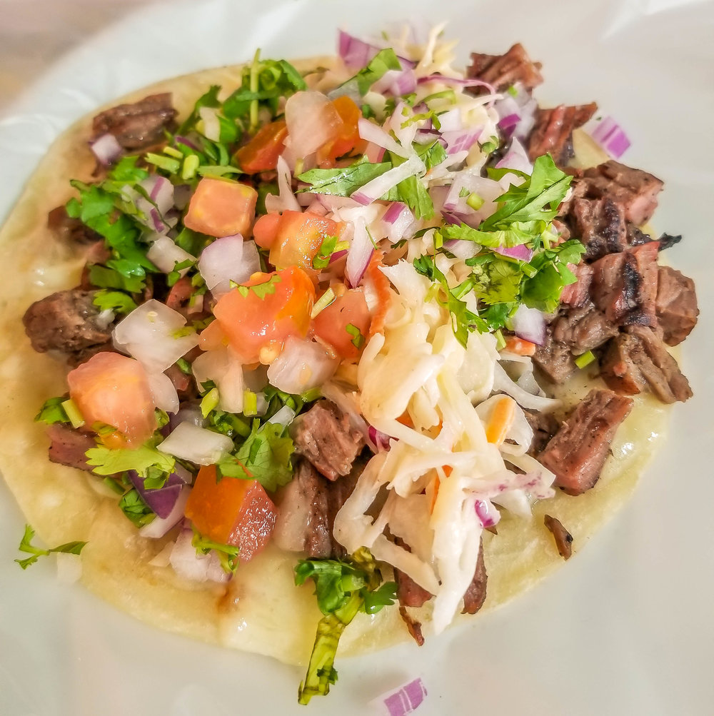steak tacos at Asi y Asado in Cabo