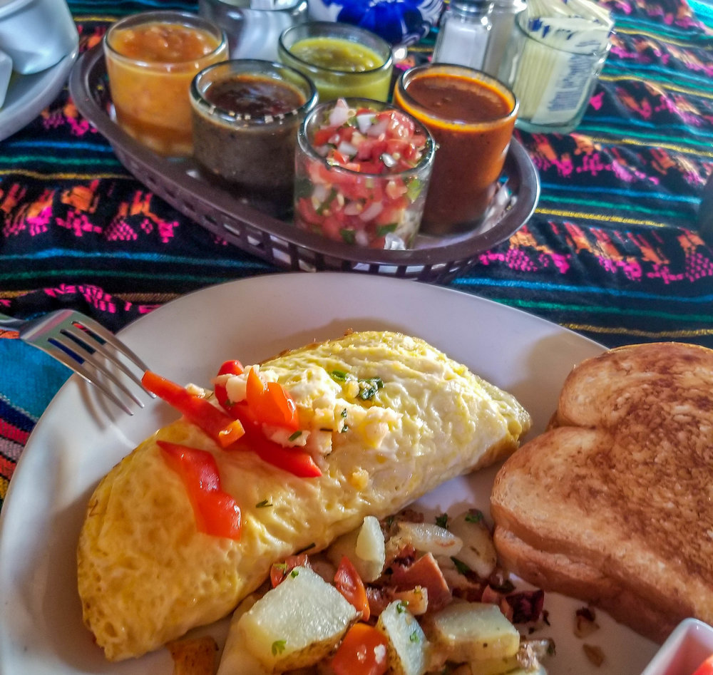 Lobster omelette from Mama's Royal Cafe in Cabo