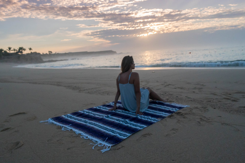 the free blanket was perfect for laying on the beach
