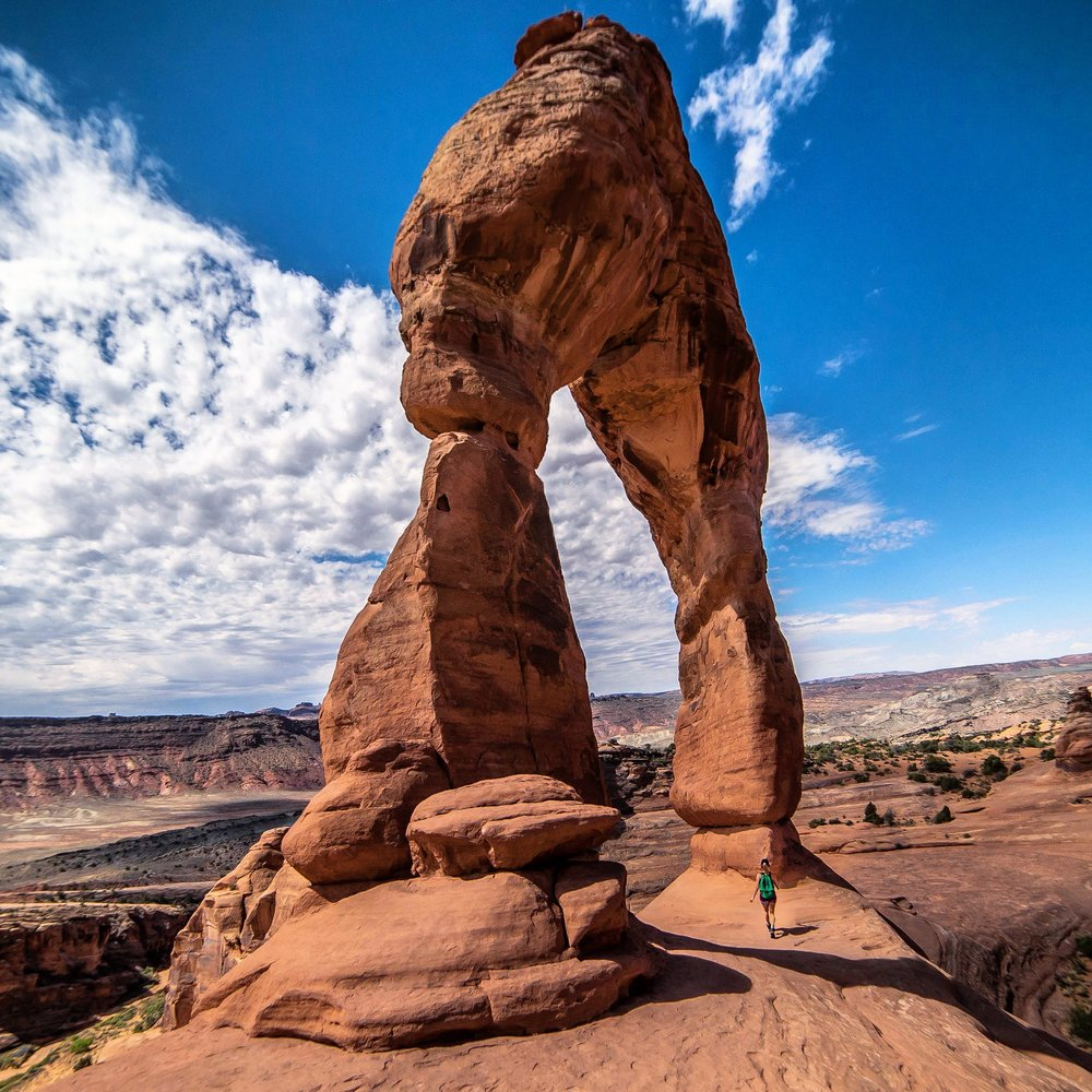classic view of the Delicate Arch