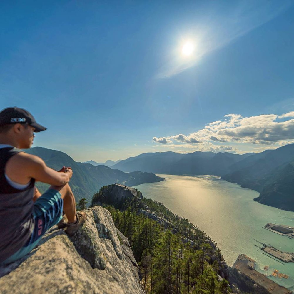 view of Howe Sound from Stawamus Chief Mountain (2nd peak)