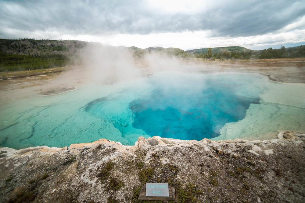Sapphire Pool inside Geyser Basin