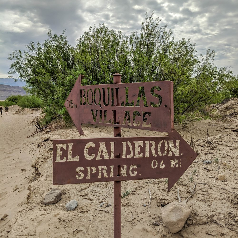the road to Boquillas