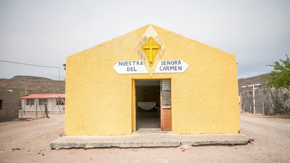 Boquillas village church