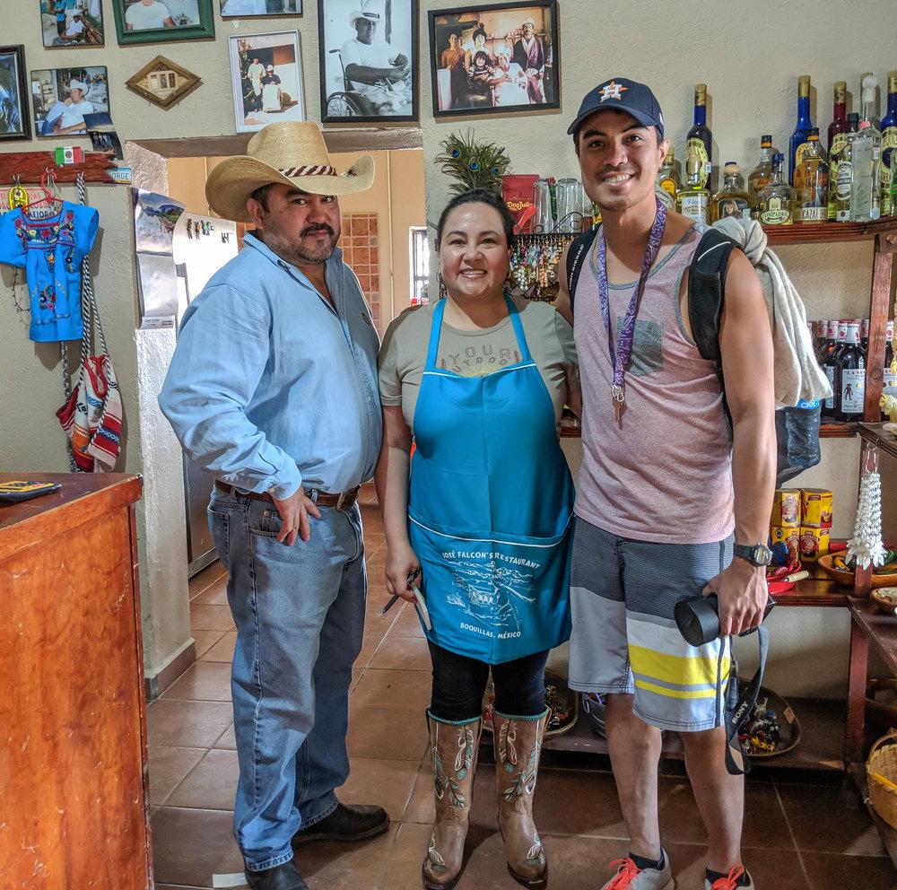Bernardo and Lilia — owners of Jose Falcon restaurant