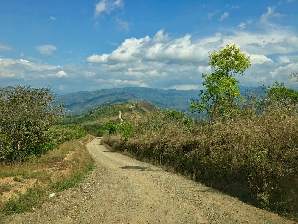 The road to Boruca Village