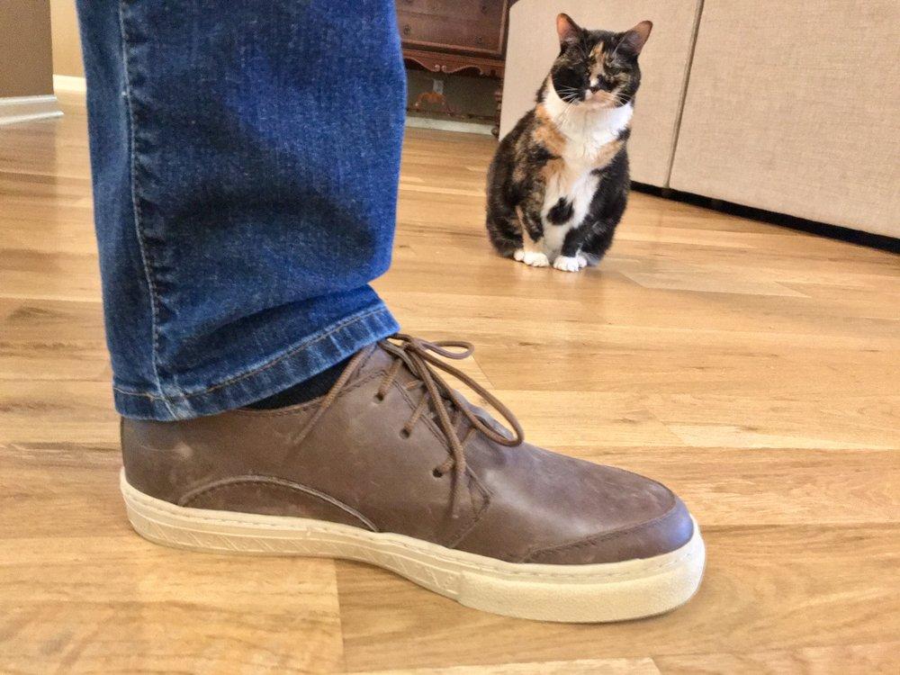 Savannah really likes the new shoes
