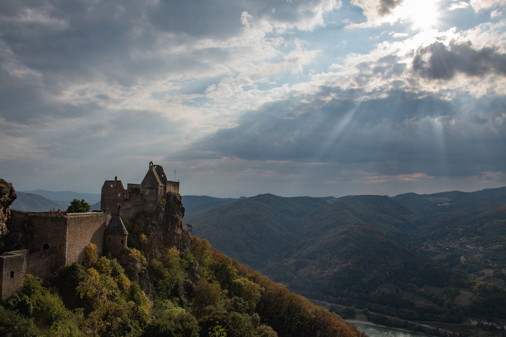 The beautiful  Aggstein Castle