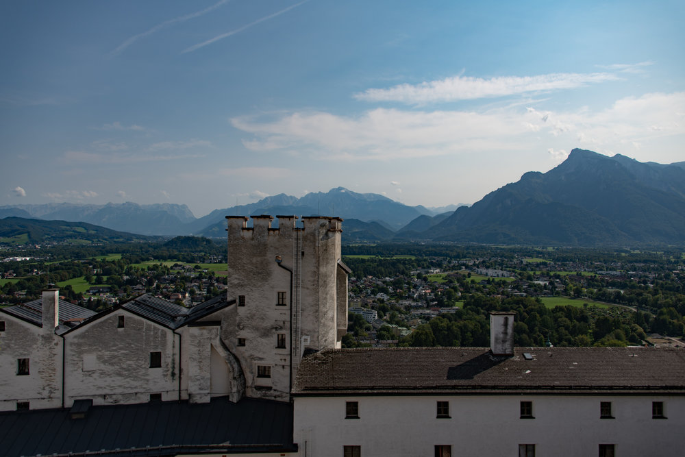 View toward the Alps from Festung HohenSalzburg
