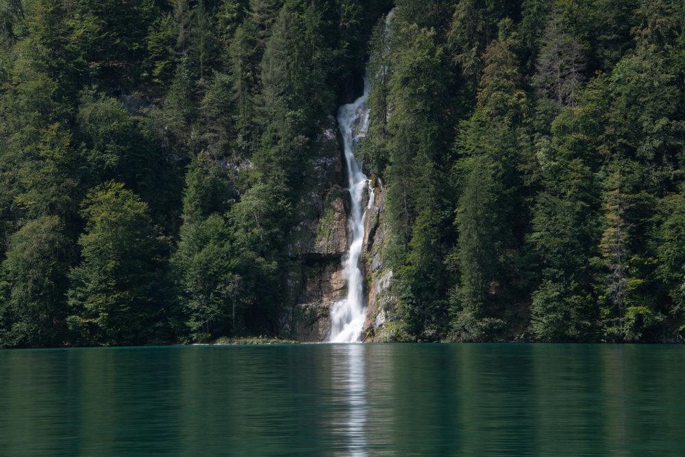 Waterfall into Königssee