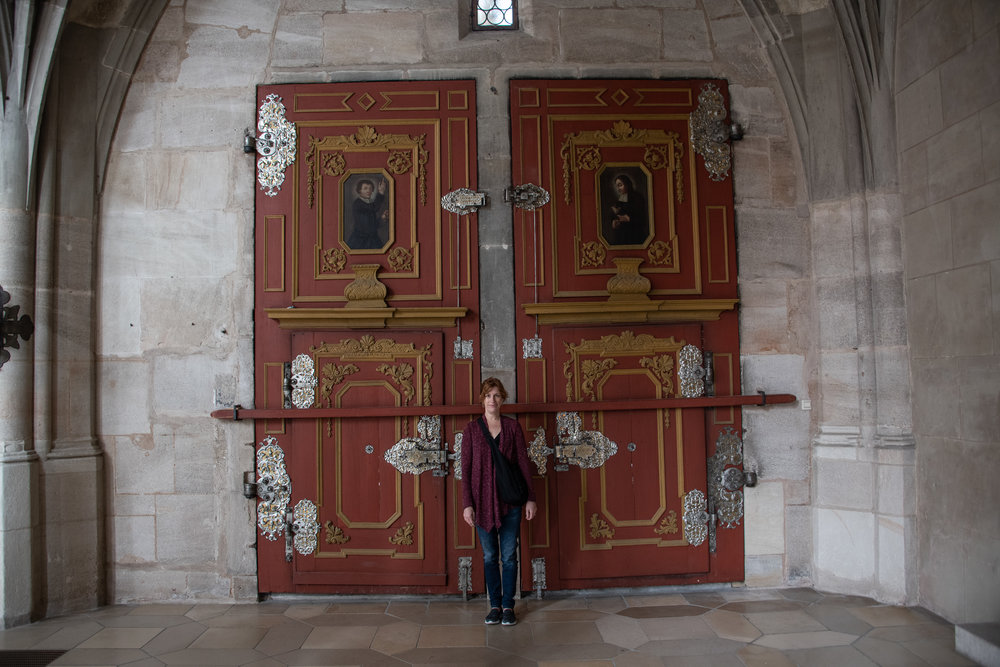 Doors inside the Dinkelsbühl Cathedral