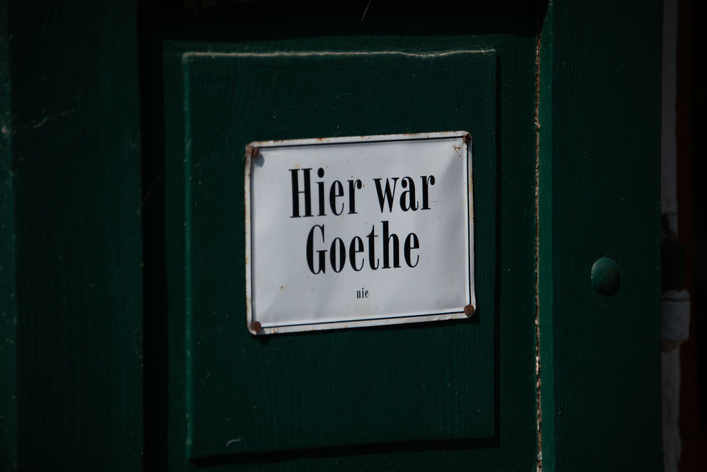 Goethe was here!