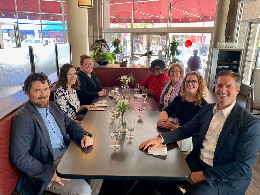 We had a great lunch with our team and our guests at Isa's downtown