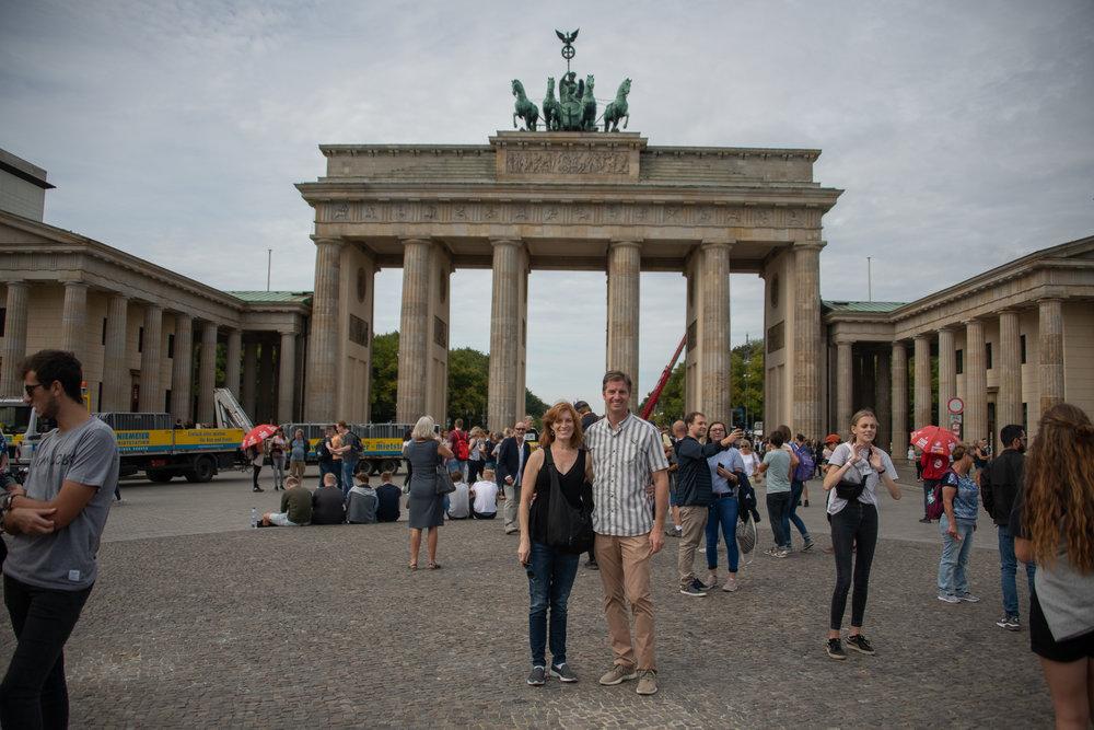 Melissa and I at the Brandenburg Gate