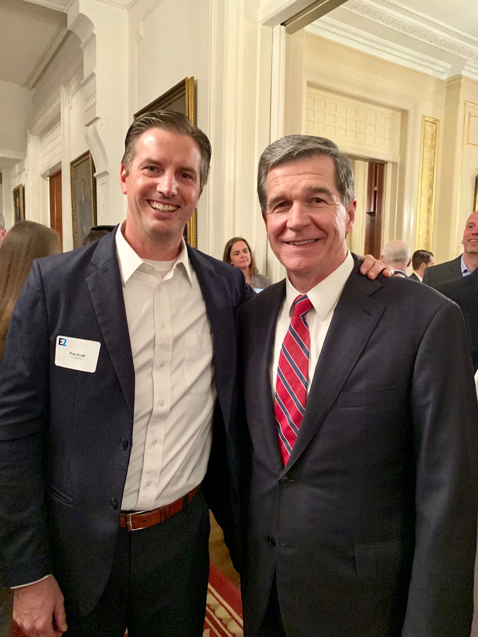 With Governor Roy Cooper