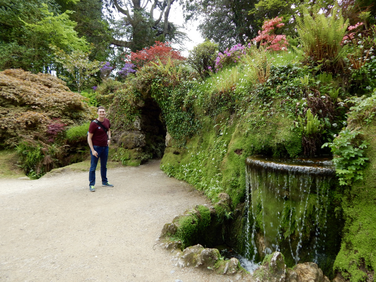 Wes in Powerscourt Gardens