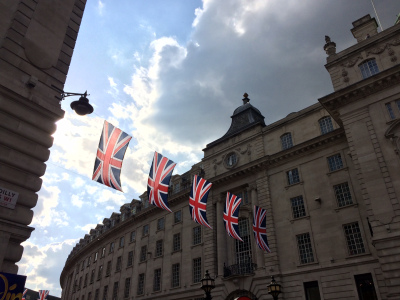Union Jacks Above Piccadilly