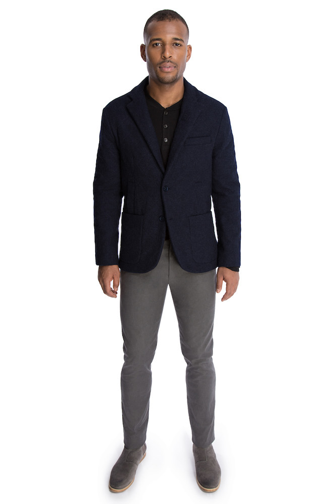 The Quilted Outerwear Jacket in Navy