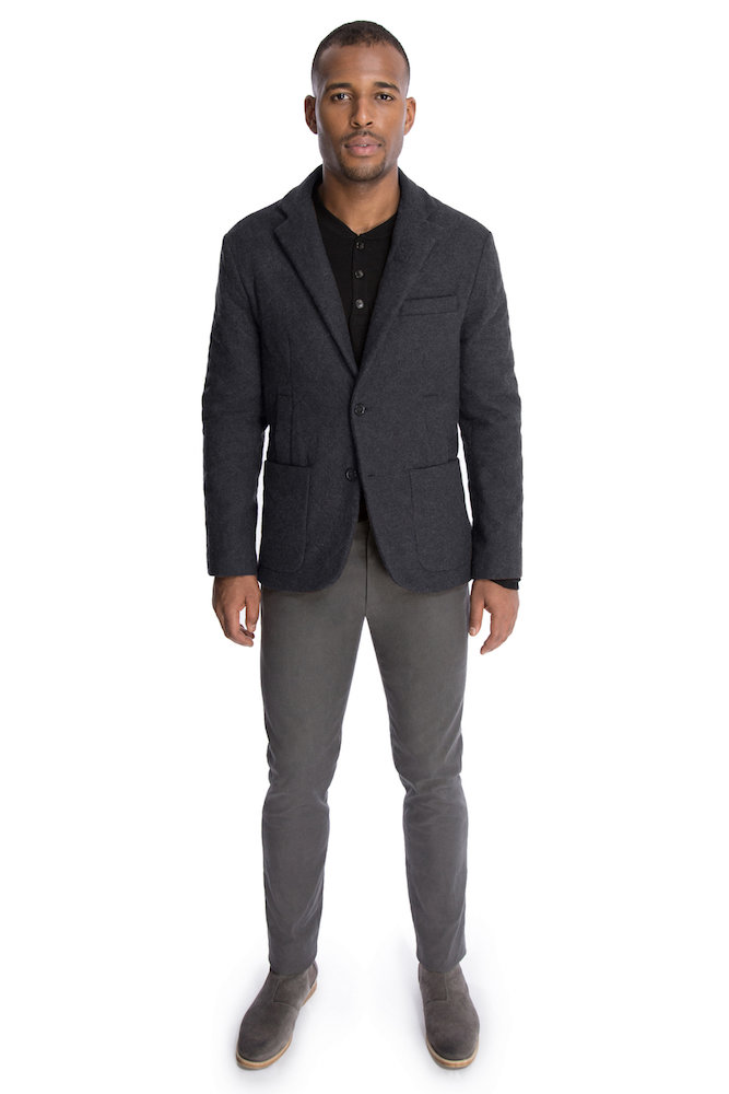 The Quilted Outerwear Jacket in Charcoal