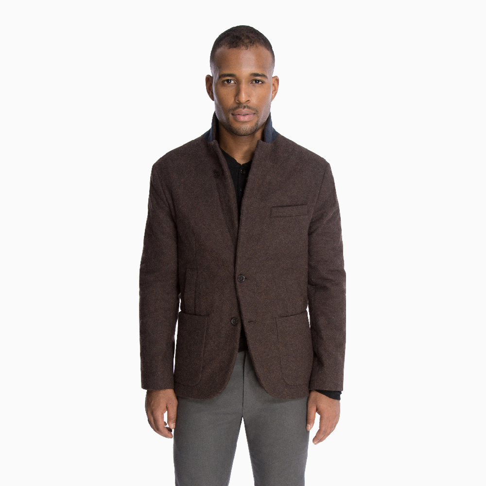 The Quilted Outerwear Jacket in Brown