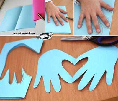 2. Handprint heart - Structured Play