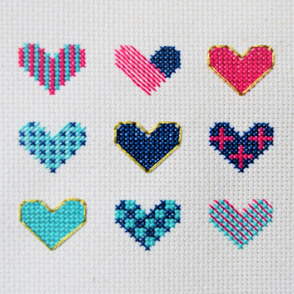 Heart Sampler | Stitch Octopus