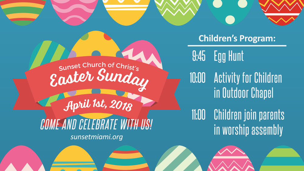 Sunset Church of Christ: Easter Sunday Egg Hunt