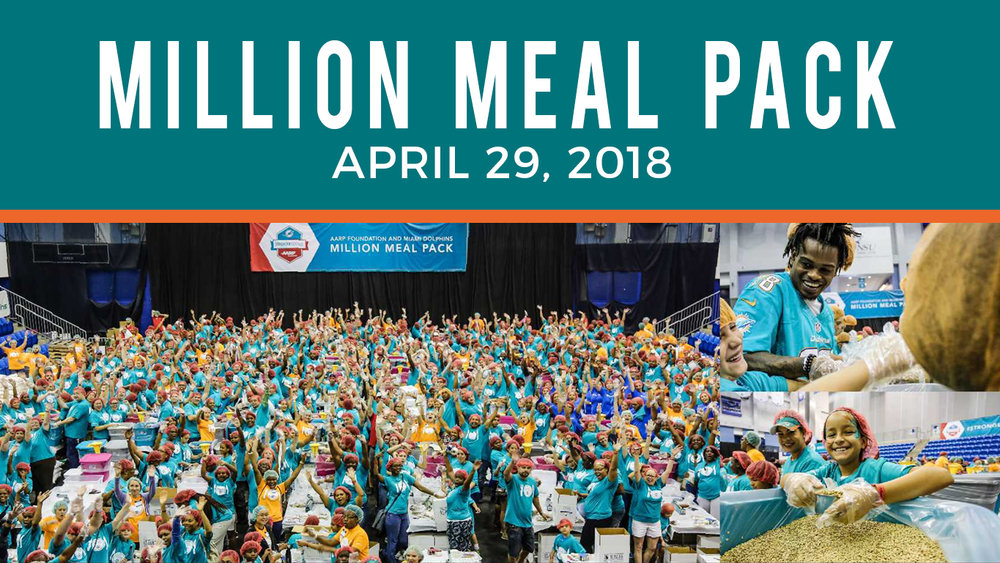 Sunset Church of Christ service project to pack a million meals.