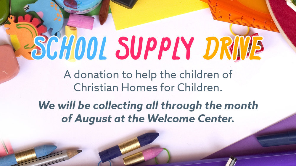 Sunset Church of Christ's School Supply Drive for Christian Homes for Children