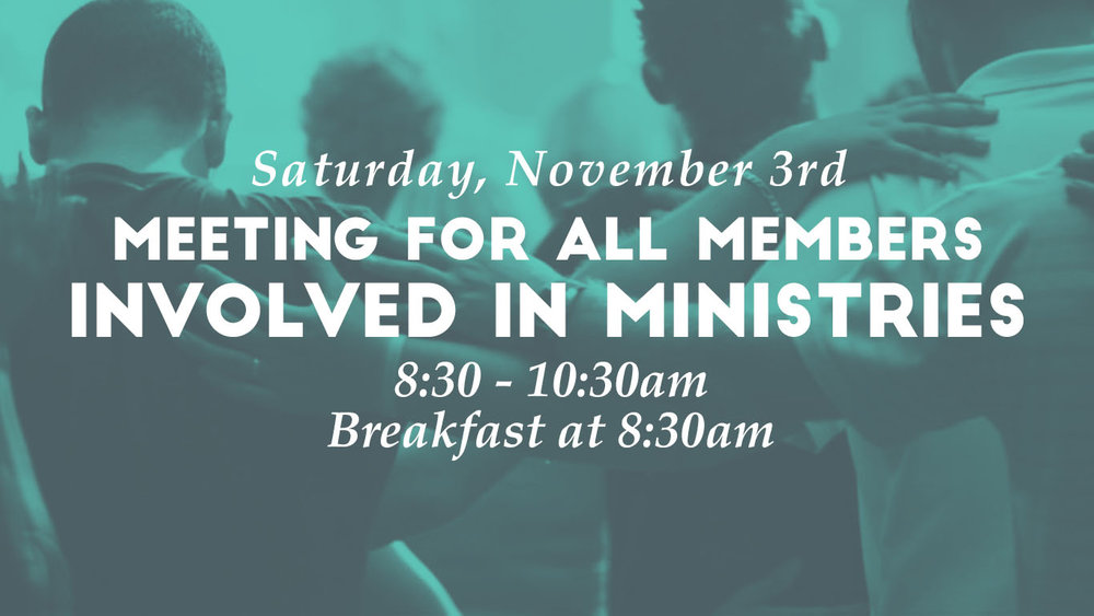 Sunset Church of Christ meeting for all members involved in Ministries.