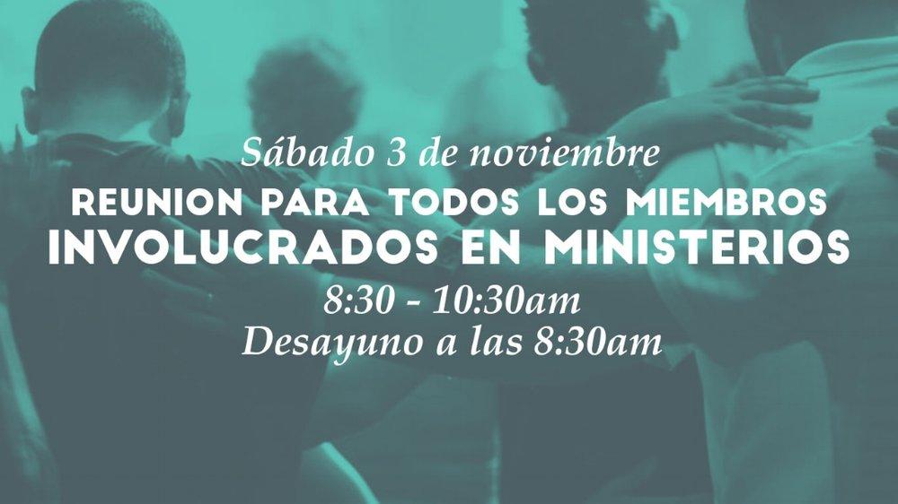 Iglesia de Cristo en Sunset reunión para todos los miembros involucrados en ministerios.