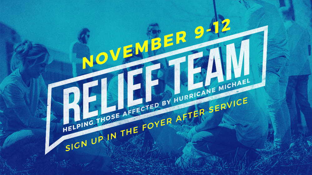 Sunset Church of Christ: Relief Team, helping those affected by hurricane Michael.