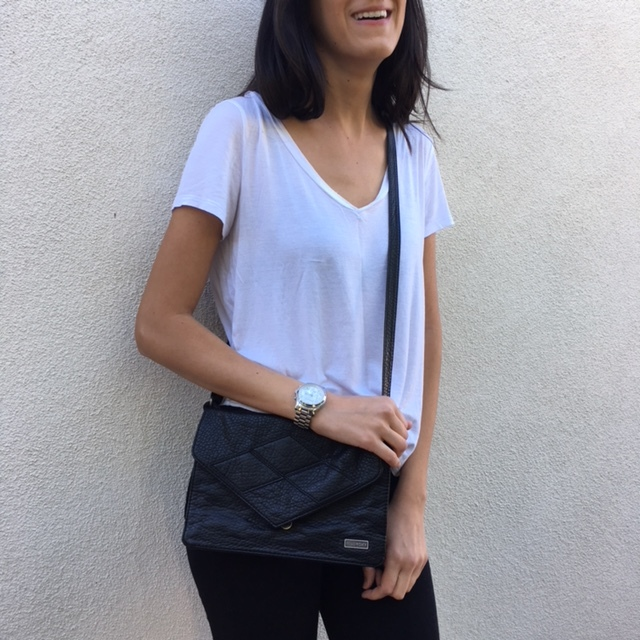 Billabong vegan leather cross-body:  easy to carry, good size, can dress it up or down