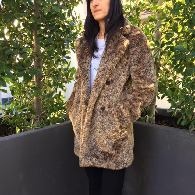 (Urban Outfitters Cheetah Print Faux Fur)