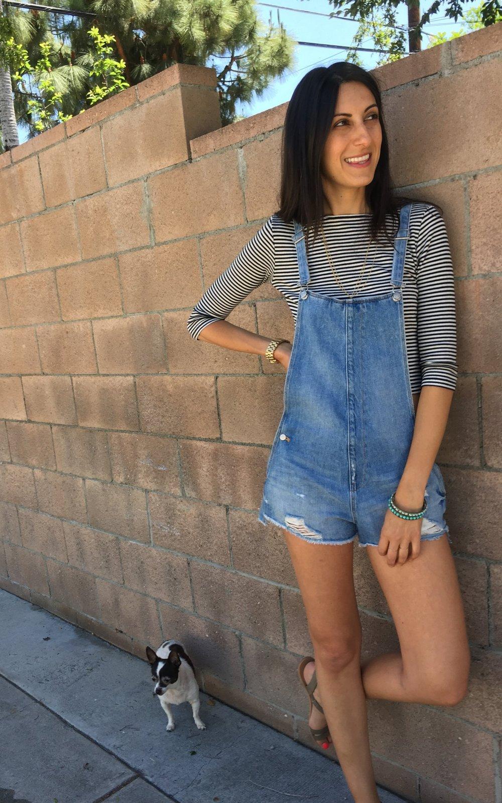 Zara Short Overalls